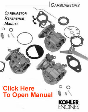 Kohler Carburetor Service Parts List Opeengines Com