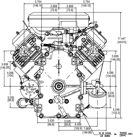 briggs   stratton engine 386777 3026 g1 23 hp vanguard Cub Cadet LT1045 Deck Diagram LT1045 Cub