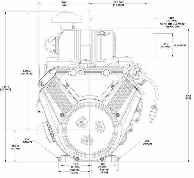 Briggs Stratton Engine 6134773048J1 35 hp Horizontal Vanguard – Kohler Cv490s Engine Diagram