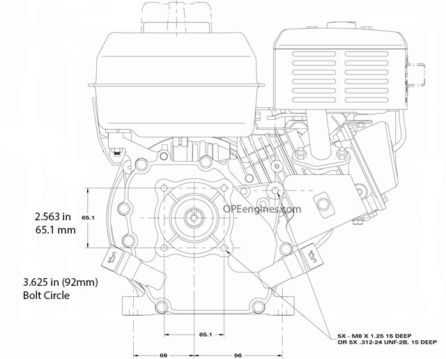 Briggs Stratton Engine 130g32 0022 F1 9 5 Power 208cc 34 In