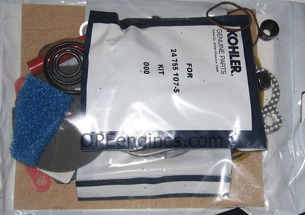 kohler part 24755107s overhaul gasket set command twin ch cv 17 kohler part 24755107s overhaul gasket set command twin ch cv 17 18 20 22 hp