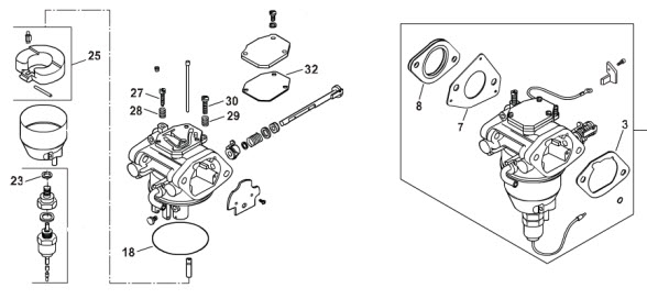 Kohler Part 2475718S Carburetor Overhaul Kit Nikki Kohler – Kohler Cv490s Engine Diagram