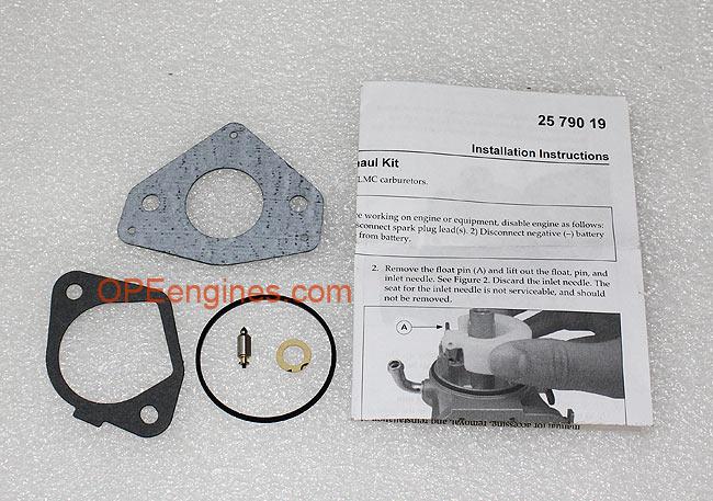 Kohler Part # 2575727S Walbro LMC Carburetor Overhaul Repair Kit ...