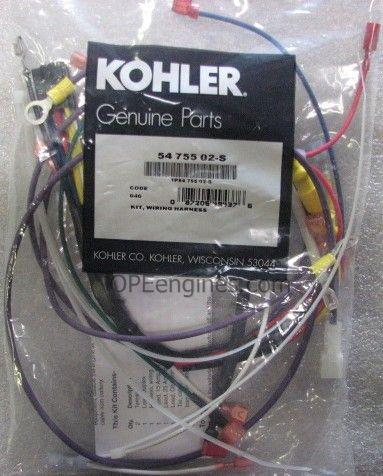 kohler part # 5475502s wiring harness kit