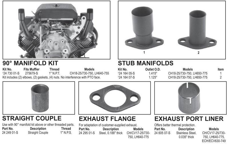 Manifold Kits : Kohler Engines and Parts Store, OPEengines com