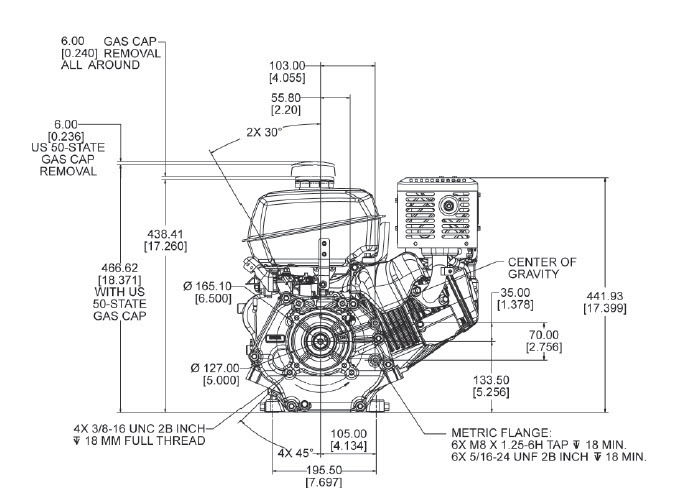 kohler k181 wiring diagram kohler engine ch440 3031 14 hp 429cc recoil electric start 1 in  kohler engine ch440 3031 14 hp 429cc