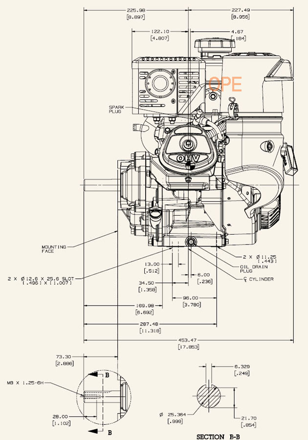 kohler engine ch395 3029 9 5 hp command pro 277cc 6 1 gear reduction kohler ignition switch wiring diagram kohler cv23 75557 john deere 23 hp (17