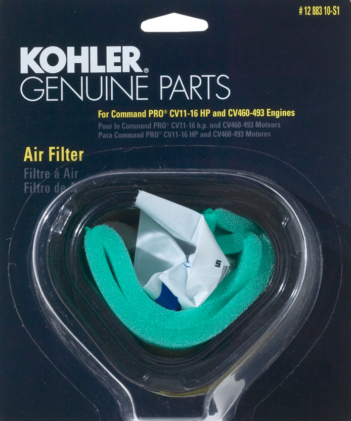 Kohler Part # 1288310S1 Air Filter with Pre-Cleaner Kit CV11 Thru ...