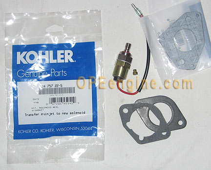 Kohler Part 2475722s Nikki Carburetor Fuel Solenoid Kit