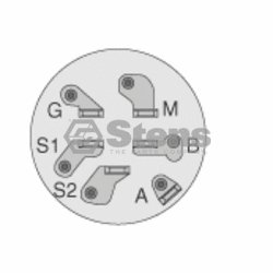 Stens 430-128 Starter Switch / John Deere TCA15075 [430-128 ...